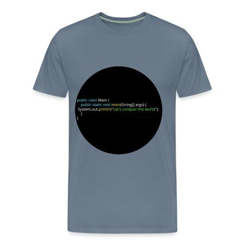 Let's conquer the world. - Men's Premium T-Shirt