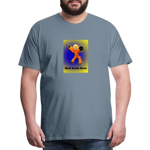 Stick Bot Poster - Men's Premium T-Shirt