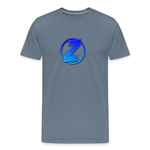 Blue Ziffy logo Shirt - Men's Premium T-Shirt