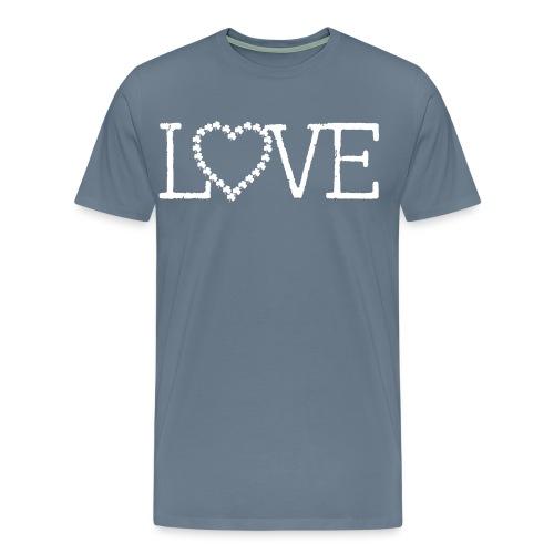 LOVE irish shamrocks - Men's Premium T-Shirt