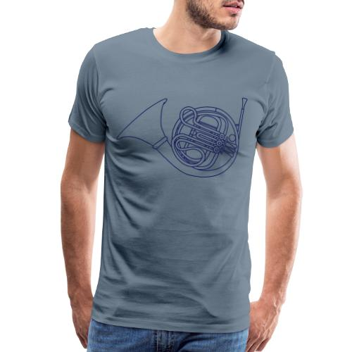 French horn brass - Men's Premium T-Shirt