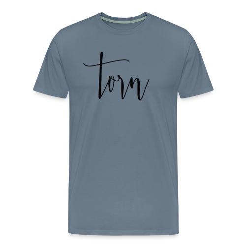 Torn logo in black - Men's Premium T-Shirt