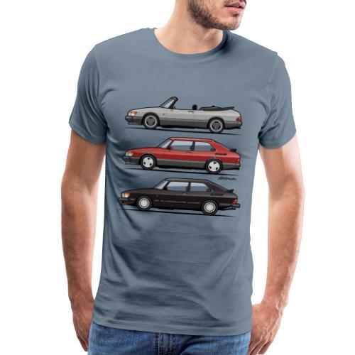 Saab 900 Turbo Trio - Men's Premium T-Shirt