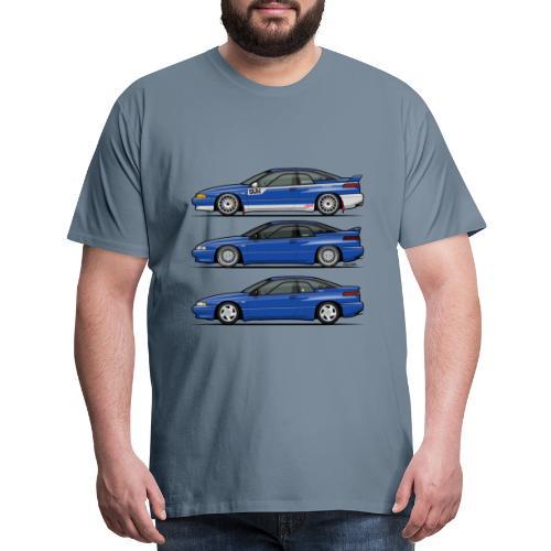 Subie Alcyone SVX Laguna Blue Pearl Trio - Men's Premium T-Shirt