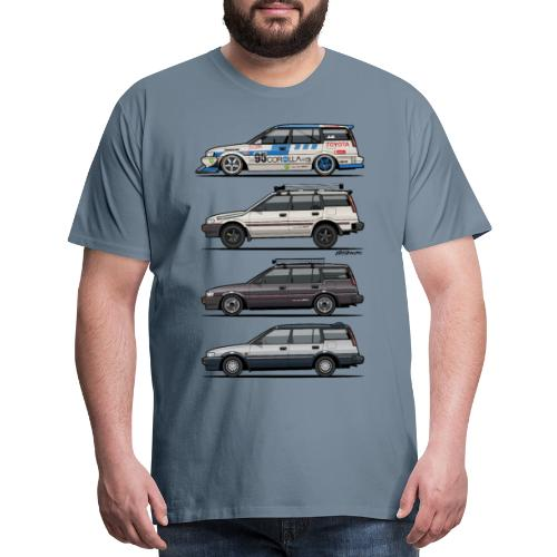 Stack of Toyota Corolla E90 - Men's Premium T-Shirt