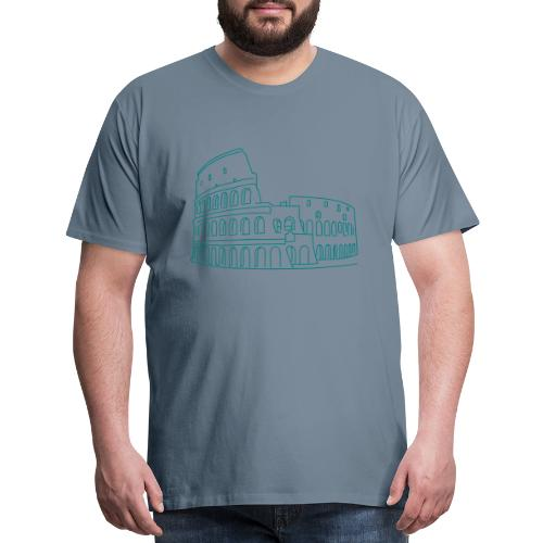 Colosseum in Rome - Men's Premium T-Shirt