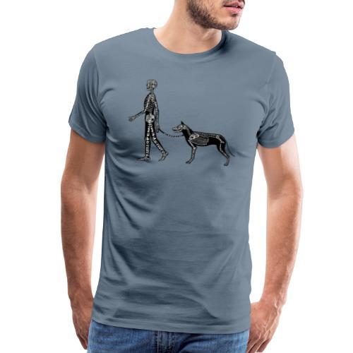 Skeleton Human and Dog - Men's Premium T-Shirt