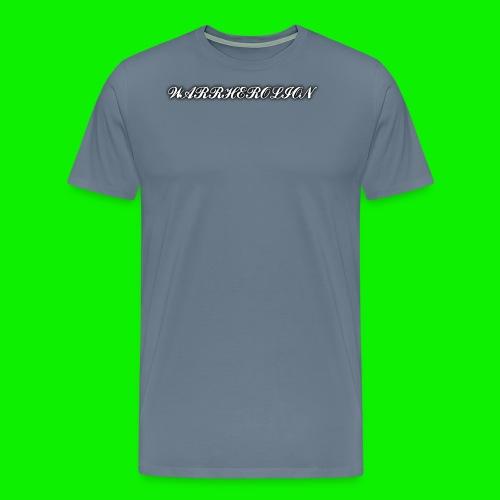 Warherolion plane text-gray - Men's Premium T-Shirt