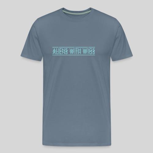 AliensWithWigs-Logo-Bleu - Men's Premium T-Shirt