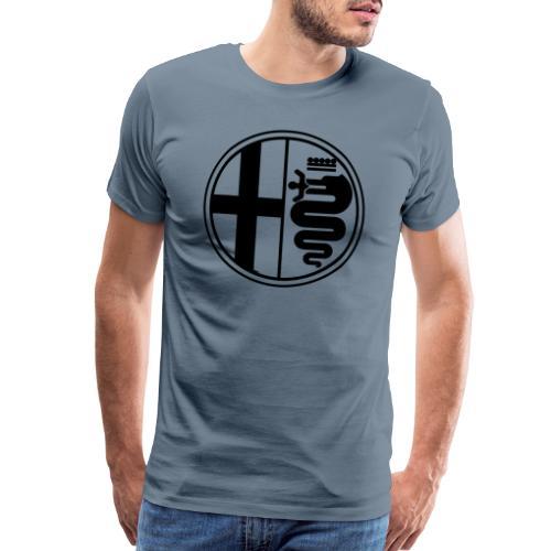 Alfa Romeo Plain Mono - Men's Premium T-Shirt