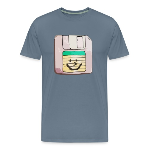 smiley floppy disk - Men's Premium T-Shirt