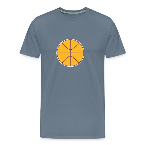 Basketball purple and gold - Men's Premium T-Shirt