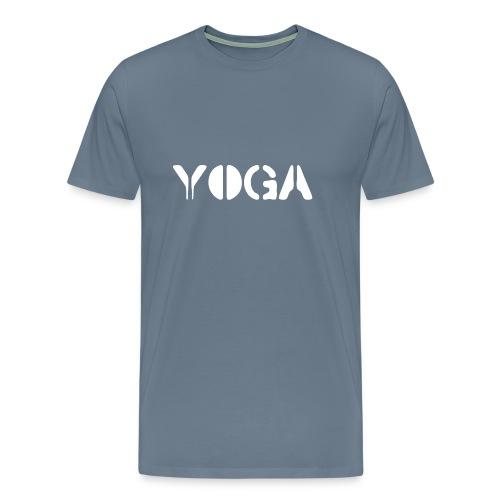 YOGA white - Men's Premium T-Shirt