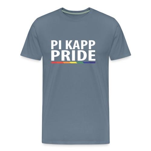 PKPride Stacked Design w Rainbow Stripe White Tex - Men's Premium T-Shirt
