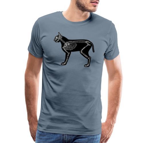 Skeleton Lynx - Men's Premium T-Shirt