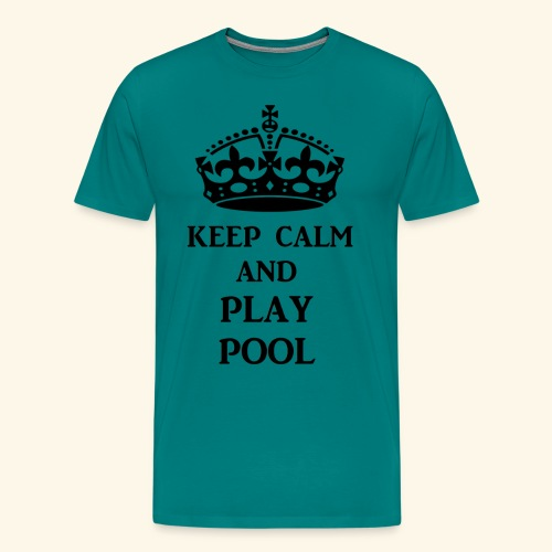 keep calm play pool blk - Men's Premium T-Shirt