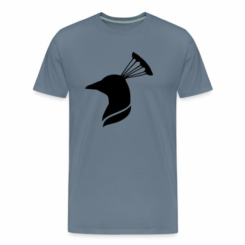 peacock head - Men's Premium T-Shirt