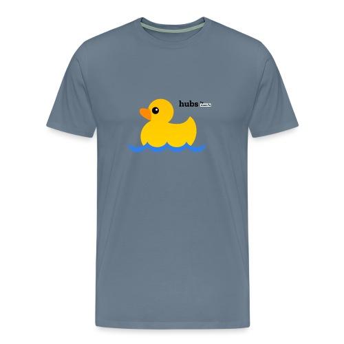 Hubs Duck - Wordmark and Water - Men's Premium T-Shirt