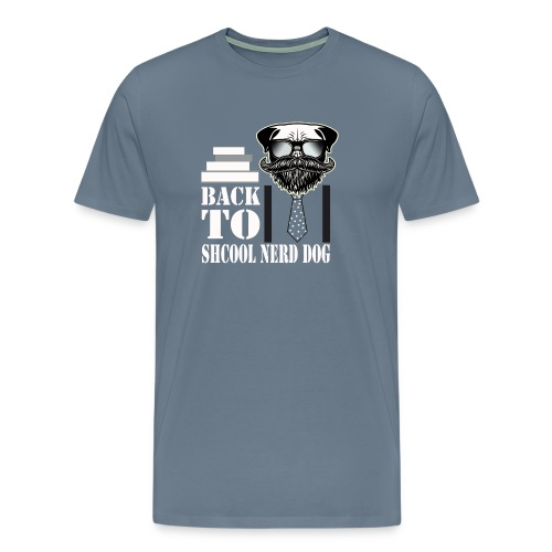 back to shcool nerd dog - Men's Premium T-Shirt