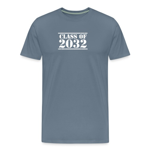 Class of 2032 Kindergarten Grad distressed logo - Men's Premium T-Shirt