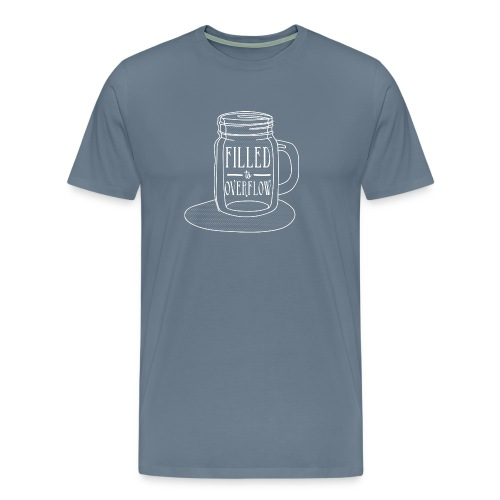 Filled to Overflow White - Men's Premium T-Shirt