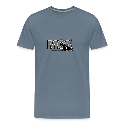 MCA Logo WBG Transparent BLACK WHITE TITLEfw fw pn - Men's Premium T-Shirt