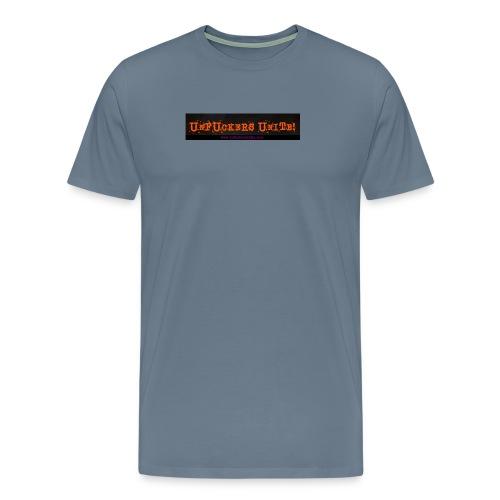 UFU logo web address banner jpg - Men's Premium T-Shirt