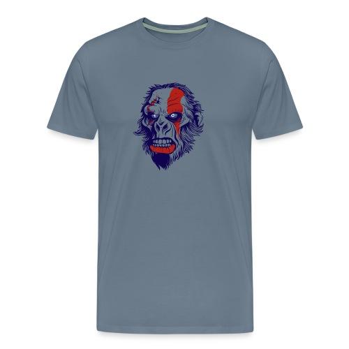 t shirt design 26 gorilla kratos by marekpl d - Men's Premium T-Shirt