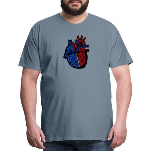Skeleton Heart - Men's Premium T-Shirt
