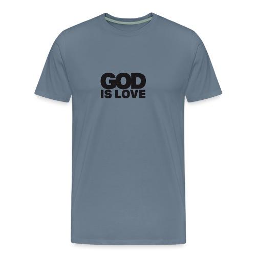 God Is Love - Ivy Design (Black Letters) - Men's Premium T-Shirt