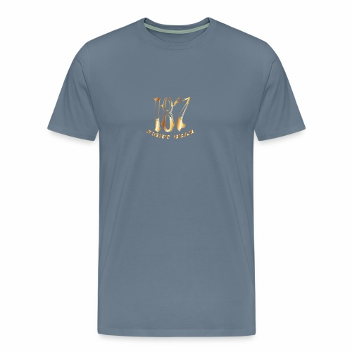 187 Fight Gear Gold Logo Street Wear - Men's Premium T-Shirt