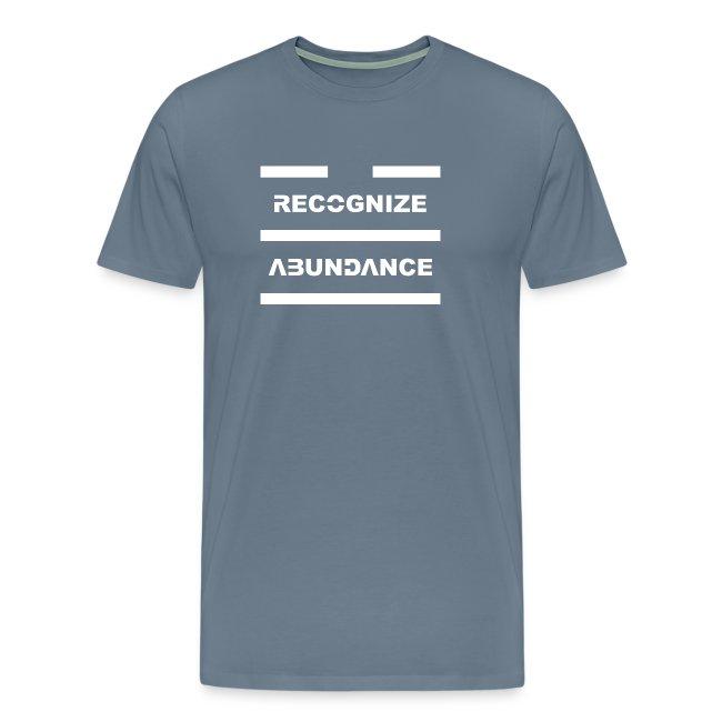 Recognize Abundance White Letters