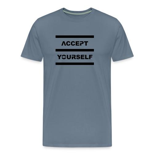 Accept Yourself Black Letters - Men's Premium T-Shirt