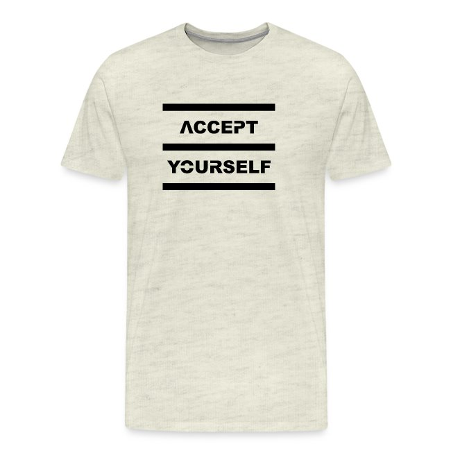 Accept Yourself Black Letters