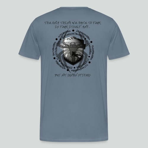 THE ONLY THING TO FEAR-on light back- 2 sided - Men's Premium T-Shirt