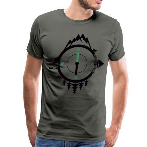 compass travel - Men's Premium T-Shirt