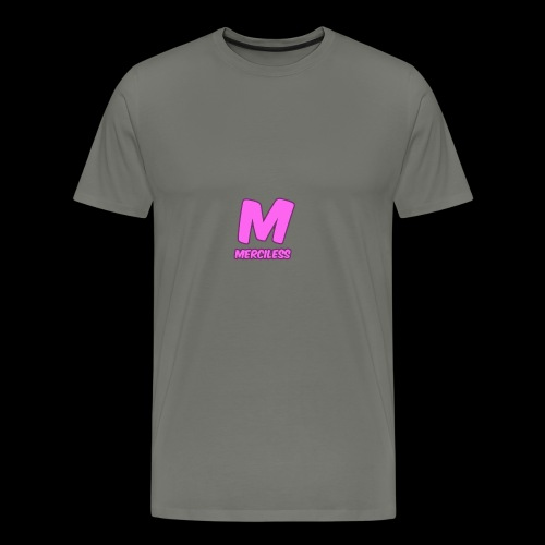 MercilessApparel pink logo - Men's Premium T-Shirt