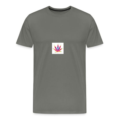 weed leaf2 0 - Men's Premium T-Shirt