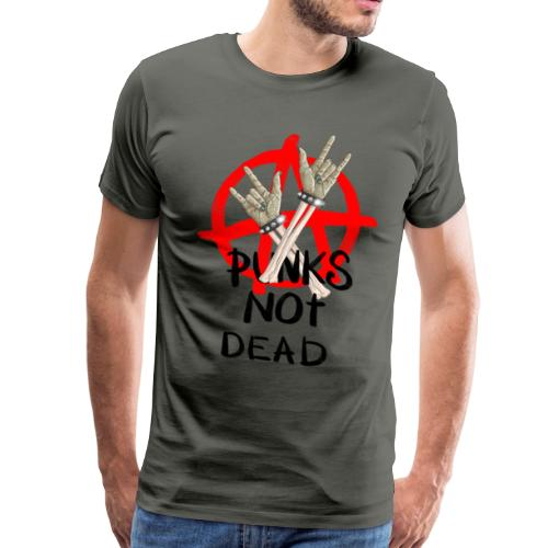 Punks not dead! Zombie hands & Anarchy - Men's Premium T-Shirt