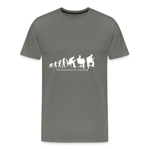 Learning_Evolution_White - Men's Premium T-Shirt