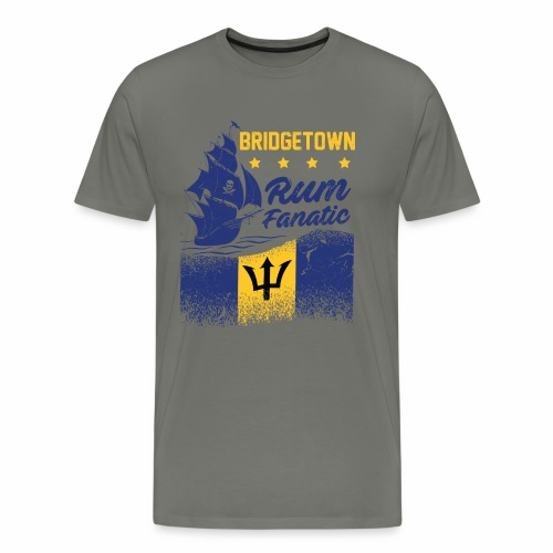 Rum Fanatic T-shirt - Bridgetown, Barbados - Men's Premium T-Shirt