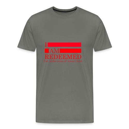 Redeemed (red) - Men's Premium T-Shirt