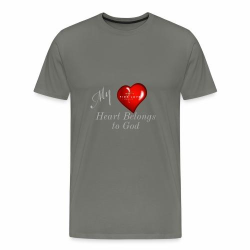 My Heart T Shirt White - Men's Premium T-Shirt