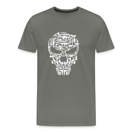 Skull and Guns and Knives Graphic T shirt - Men's Premium T-Shirt