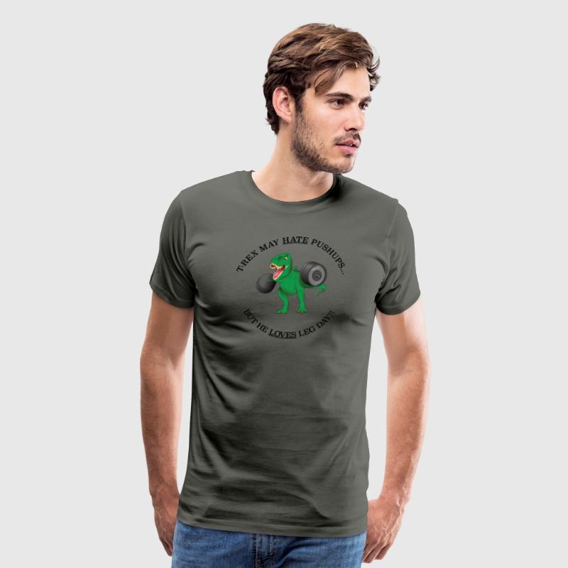 Leg Day T Rex - Men's Premium T-Shirt
