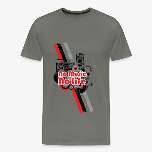 NO MUSIC - Men's Premium T-Shirt