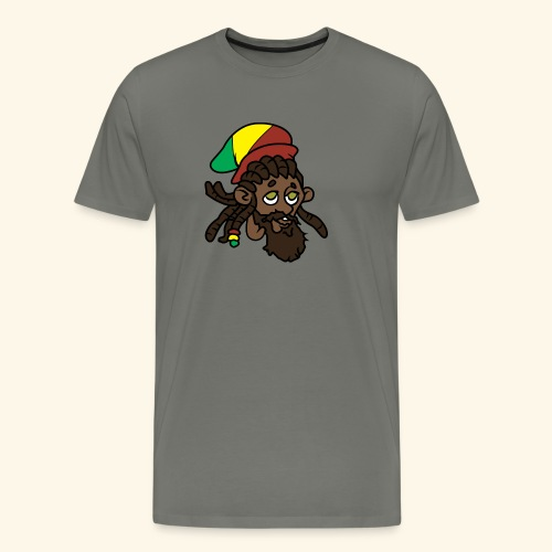 Rasta Ricky Head Logo - Men's Premium T-Shirt