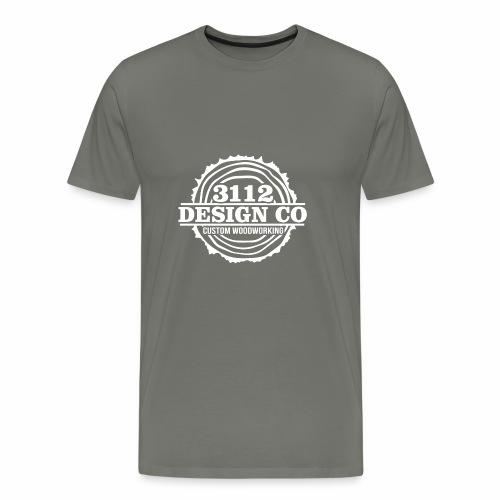 3112 Design Co - White Logo - Men's Premium T-Shirt