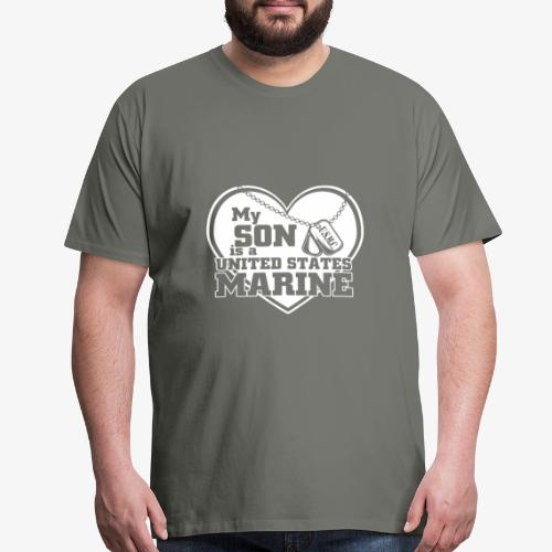 my son is a united states marine - Men's Premium T-Shirt