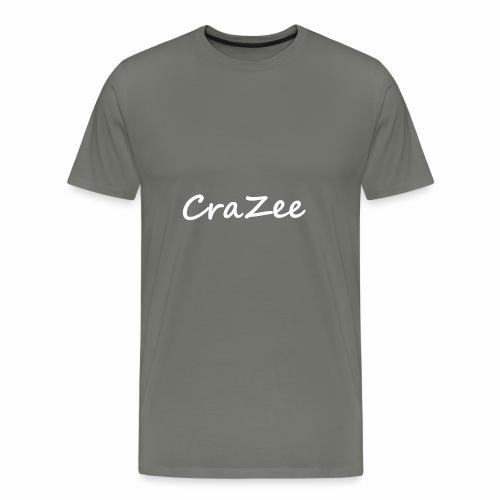 CraZee White - Men's Premium T-Shirt